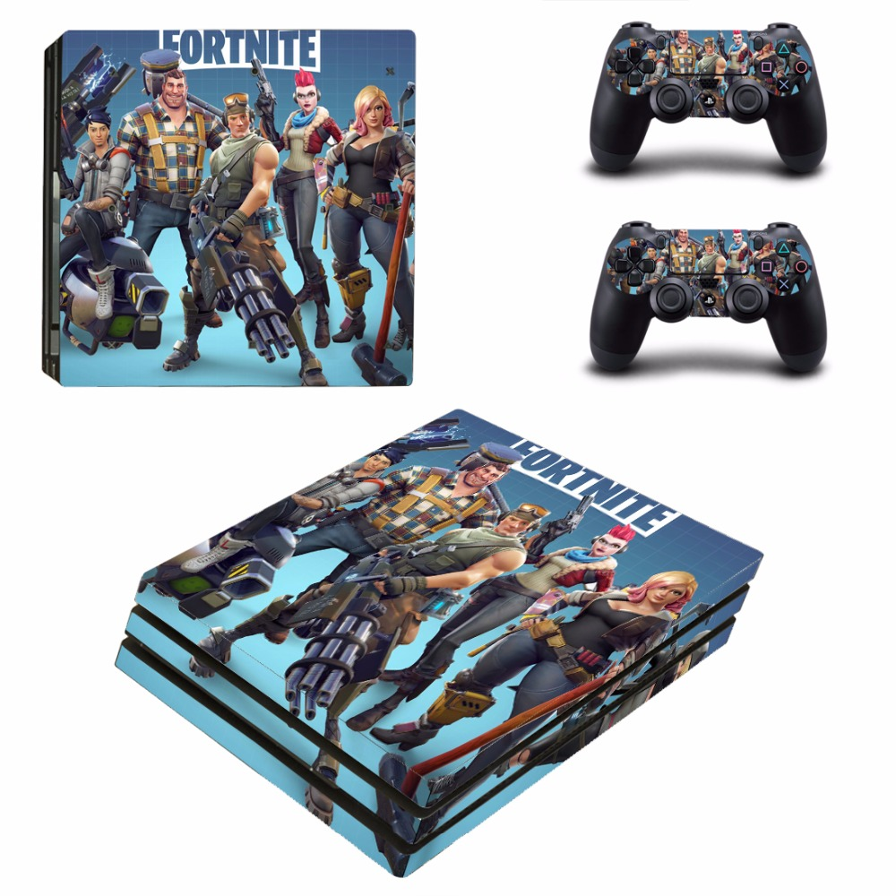 PS4 Pro Vinyl Skin Sticker Cover For Sony Playstation 4 Pro Console&Controllers - Fortnite Battle Royale