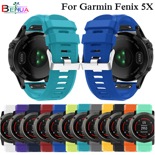 Silicagel Soft Quick Release Kit Easy fit Watchband For Garmin Fenix 5X/Fenix 3/