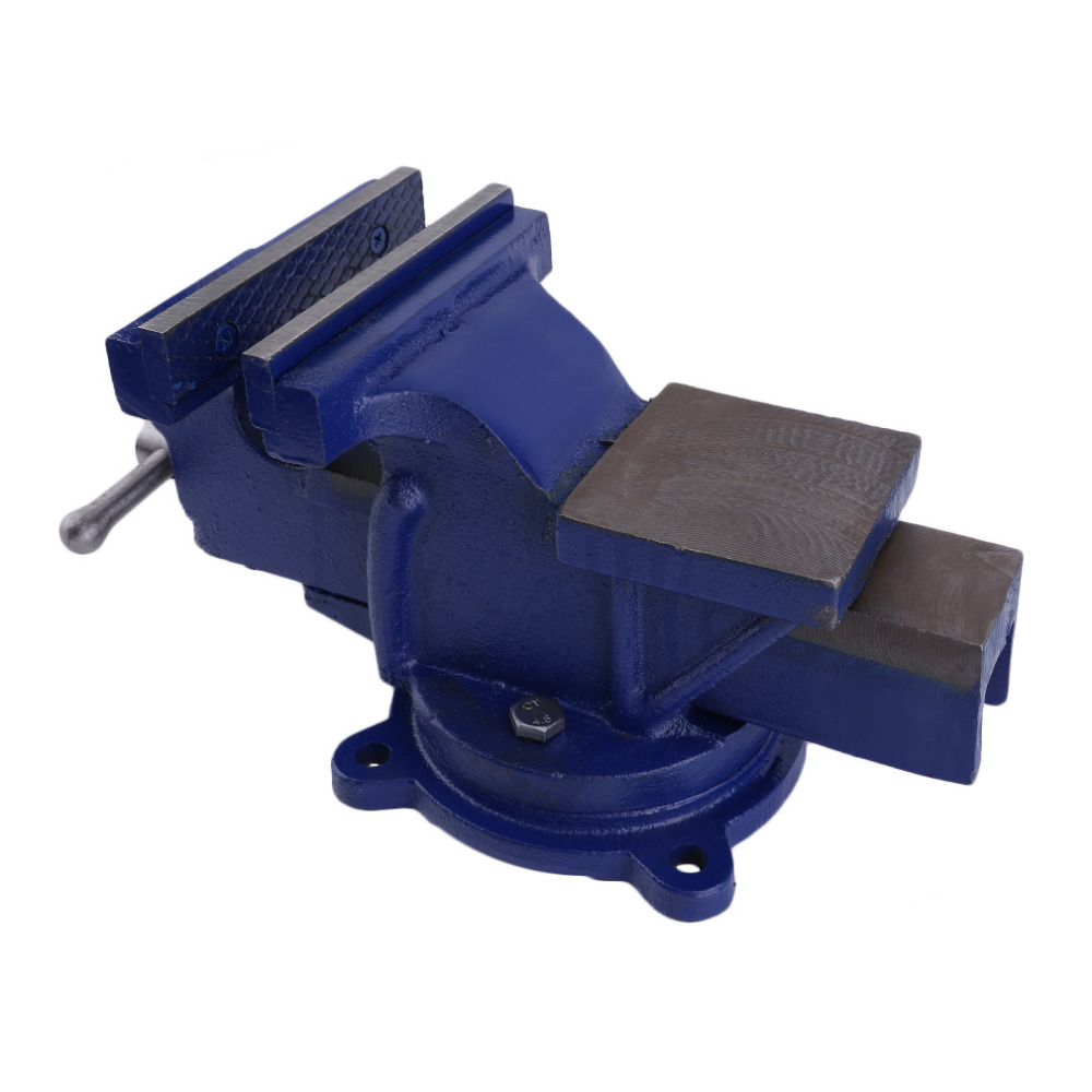 Newest Manual Bench Vice Bench Working Opening Parallel Table Vise DIY Sculpture Craft Repair Hardware Tool 150MM Blue
