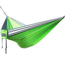 300 * 200 cm parachute fabric hammock with a strong load bearing capacity. Accessories need to be purchased separately