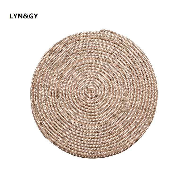 New Weave Round Carpets For Living Room Nordic Gray Computer Chair Area Rug Children Play Tent Floor Mat Cloakroom Tatami Mats