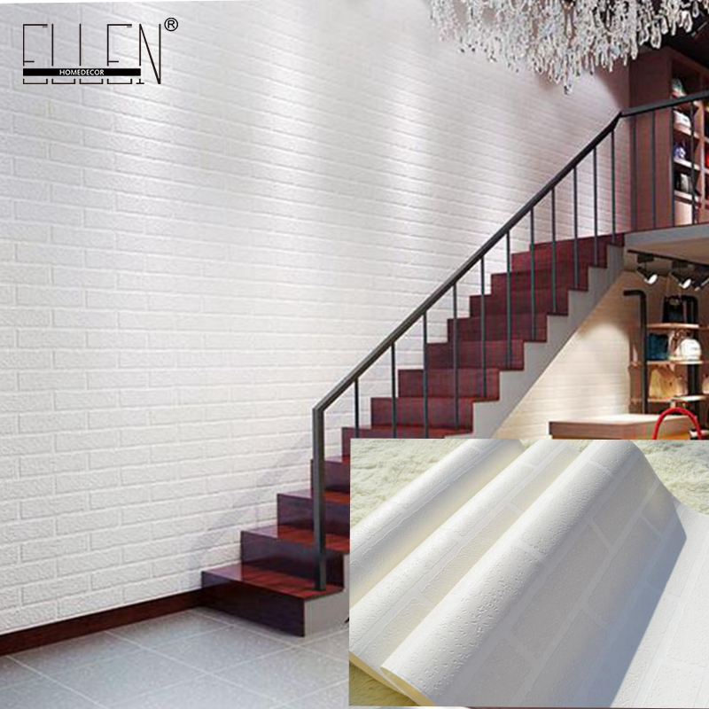 Thickened white brick wall wallpaper roll for balcony,3d stone wallpaper for living room,3d papel de parede tijolo beibehang rustic brick stone wallpaper for living room chinese brick pvc wallpaper roll papel de parede 3d roll home decoration