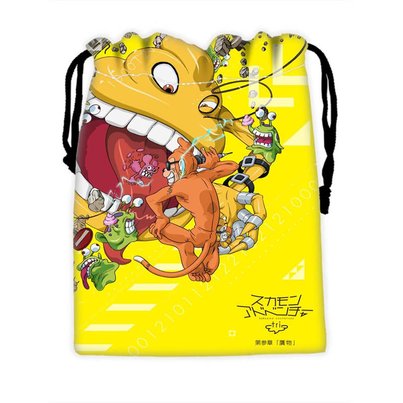 Custom Digimon Drawstring Bags For Mobile Phone Ablet PCjewelry Gift Packaging Bags Christmas Gift Bags SQ0709-N4E7