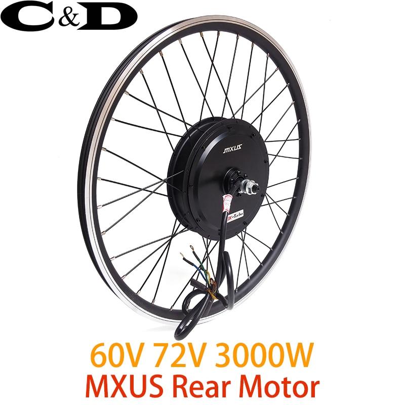 a5908f3d934 60V 72V 3000W High Speed Brushless Hub Motor wheel electric bike Motor Rear  Wheel Drive MXUS XF40 45H 3K Turbo-in Electric Bicycle Motor from Sports ...
