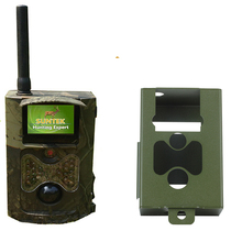 Suntek HC500G Hunting Camera 3G GPRS MMS SMTP/SMS 12MP 1080P Wildlife Trail Camera with Metal Case Iron Lock Box