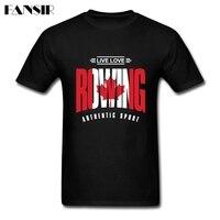 Men T Shirt Online Designer White Short Sleeve Custom Shirt Men Man S Live Love Rowing