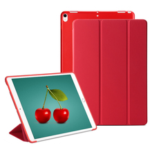 GOLP Caso Para iPad Pro 10.5 pulgadas 2017 Folio 3 Soporte Plegable Estela del sueño Translúcido Tpu Contraportada Casos Inteligentes Para Apple 10.5″