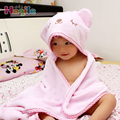 Hooded Animal Modeling Baby Bathrobe Cartoon Baby Towel Soft Blue Pink Kids Bath Robe Infant Beach Towels LM50