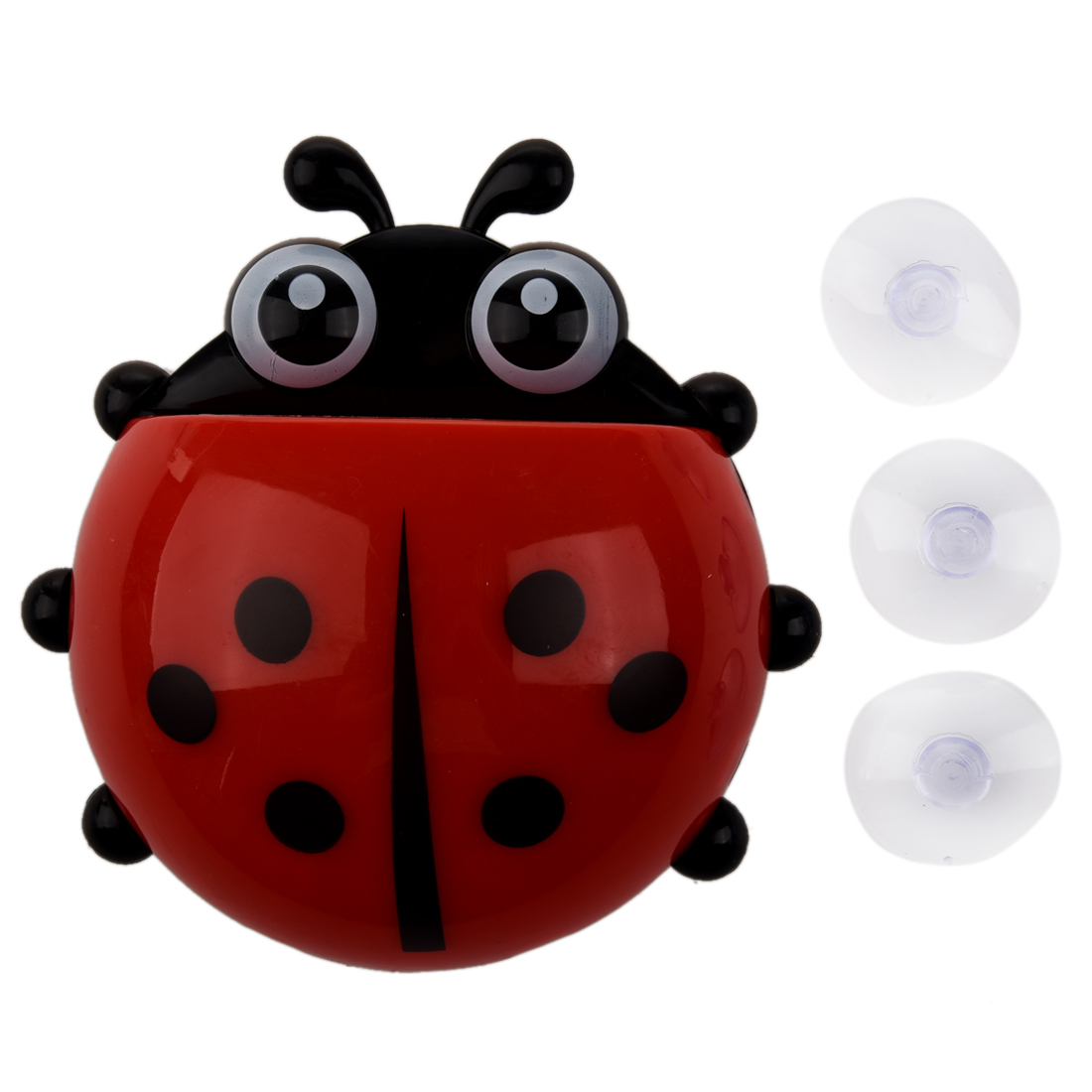 Hot Sale Convenient Bathroom Toothbrush Stuff Ladybug Wall Suction Holder image