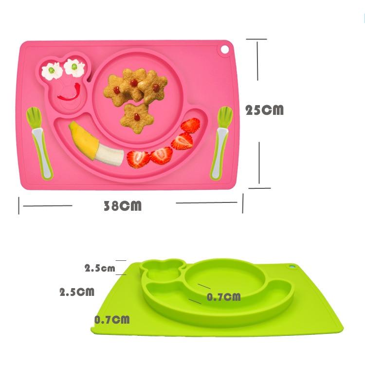 1 stücke Sozzy Nette Silikon einteiliges Essen Matte Platte Rahmen ...