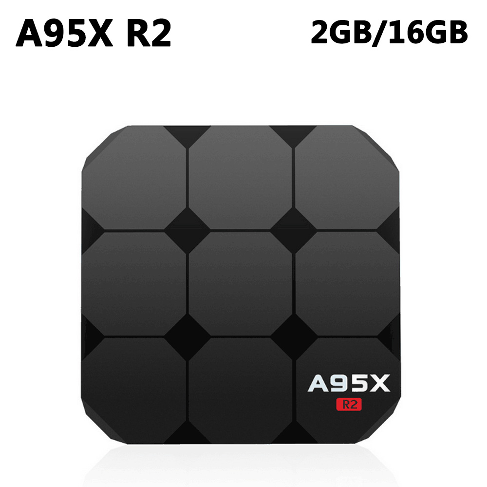 цена на A95X R2 Smart TV Box Android 7.1 Amlogic S905W Quad Core 2GB DDR3 16GB ROM Set Top Box 4K 3D H.265 2.4GHz Wifi HD Media Player