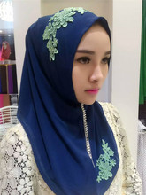 2017 Chiffon Formal Muslim Inner Cap Top Adult Appliques The New Women's Clothing Hook Drills Very Joker Veil Headdress Flower