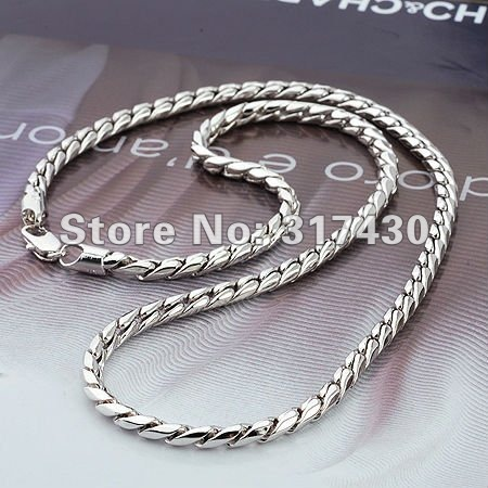 Necklace 18k White Gold Filled
