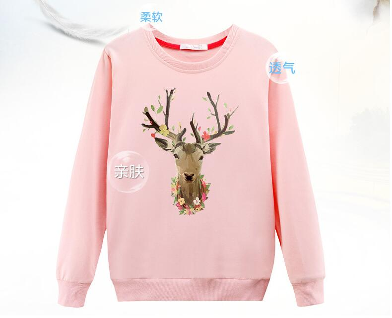 High Quality Women Long Sleeve Pullovers Fashion Winter Female Matching Deer Christmas Hoodie Knitted Tops 2016 Women Cloth