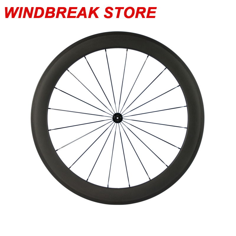 High Quality Carbon Wheelset 700C Clincher Road Wheel 60mm Cycling Wheels Rear Wheel with Powerway hub
