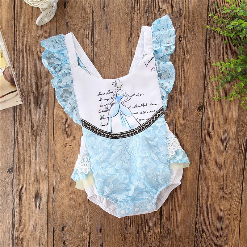 2018 Newborn Toddler Baby Girls Beauty And The Beast Romper Body Cotton Letter Sleeveless Romper Jumpsuit Outfits Clothes