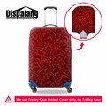 Dispalang red artistic decorative pattern print travel luggage cover fashion luggage protective dust cover for 18-30 inch case