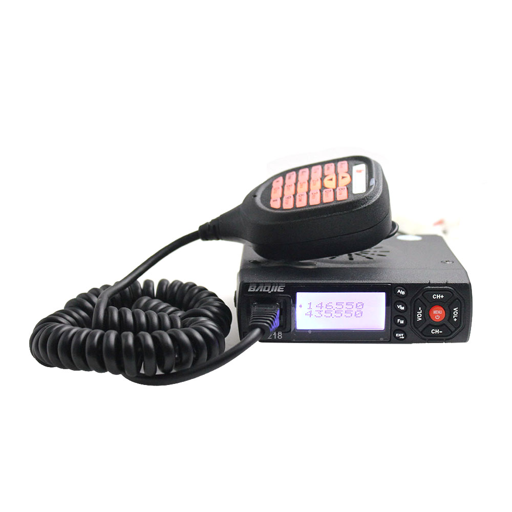 Baojie BJ-218 Mini Mobile Radio Car Radio FM Transceiver 25W VHF UHF BJ218 Vericle Car Ham Radio Dual Band Walkie TalkieBaojie BJ-218 Mini Mobile Radio Car Radio FM Transceiver 25W VHF UHF BJ218 Vericle Car Ham Radio Dual Band Walkie Talkie