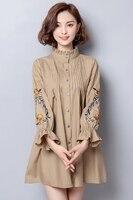 2018 New Plaid Dresses Explosions Leisure Vintage Dress Fall Women Check Print Casual Shirt Dress Vestidos