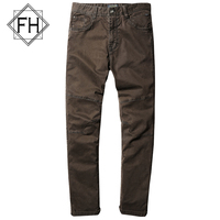New Arrival FUHAO Mens Casual Straigth Pants Army Green Slim Fit Style Cotton Trousers For Men