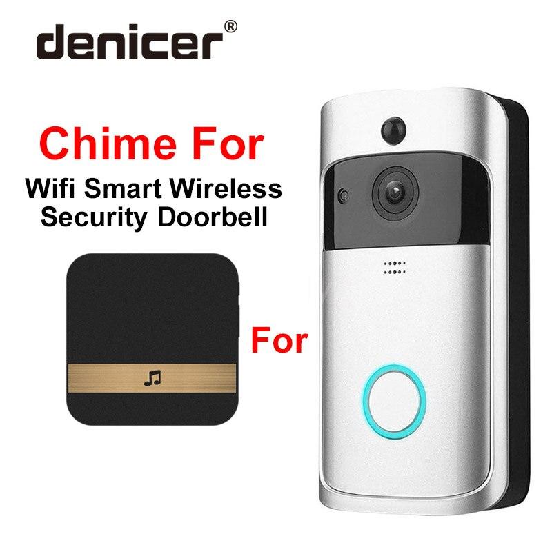 AC 110 220V Smart Indoor Doorbell Wireless WiFi Door Bell Chime AU US EU UK Plug