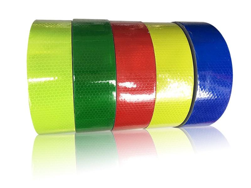 Reflective Material 5cm* 45m Trucks Yearly Check Reflective Sticker Honeycomb Lattice Reflective Self-adhesive Pvc Materials