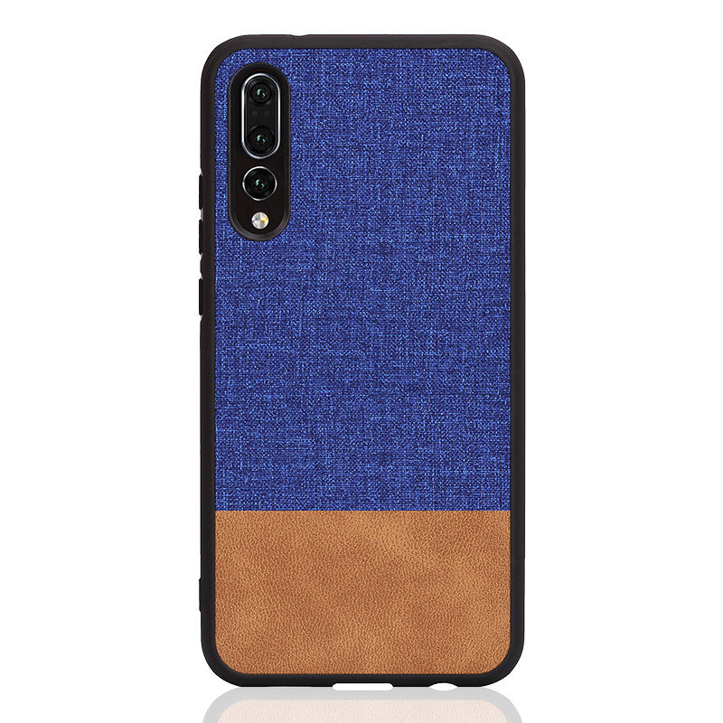PHOPEER Silicone Case for Huawei P20 P20 lite case cover Huawei P20 Pro Soft TPU edge shockproof business fabric back cover in Fitted Cases from Cellphones Telecommunications