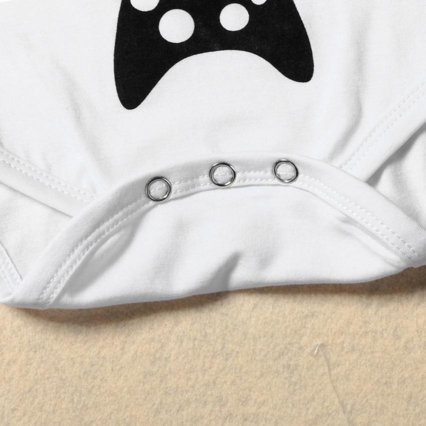 New arrival baby clothes newborn clothes Baby Boy Letters Printing Romper Jumpsuit Teddy Outfits Clothes FUTURE GAMING BUDDY