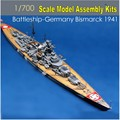 1: 700 Skala Deutschland Bismarck Schlachtschiff 1941 Versammlungs-modell-kits 05711 Berühmte Boot Modell Builing Kits