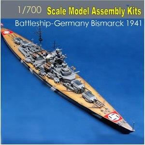 1:700 Scale Germany Bismarck Battleship 1941 Assembly Model kits 05711 Famous Boat Model Builing Kits(China)