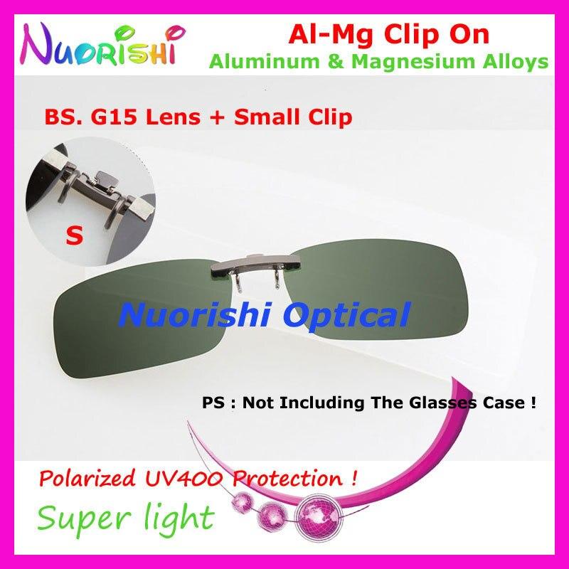 10 шт. сплава al-mg поляризованные Очки очков 7 цветов UV400 линзы клип на для малого и среднего Размеры зажимы cp07 - Цвет линз: BS G15 Lens