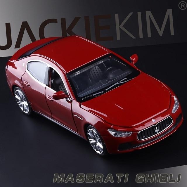 높은 시뮬레이션 절묘한 다이 캐스트 및 장난감 차량: Caipo 자동차 스타일링 마세라티 지브리 1:32 소리와 빛으로 합금 자동차 모델