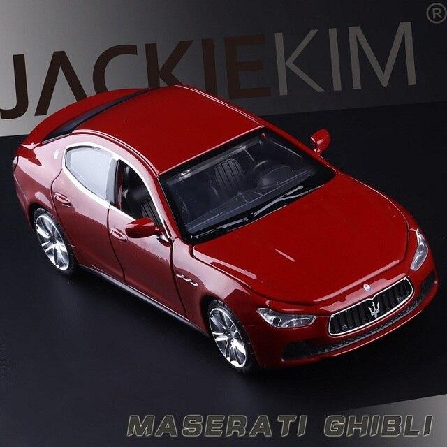 גבוהה סימולציה מעולה Diecasts & צעצוע כלי רכב: caipo רכב סטיילינג מזראטי Ghibli 1:32 סגסוגת רכב דגם עם צלילי אור
