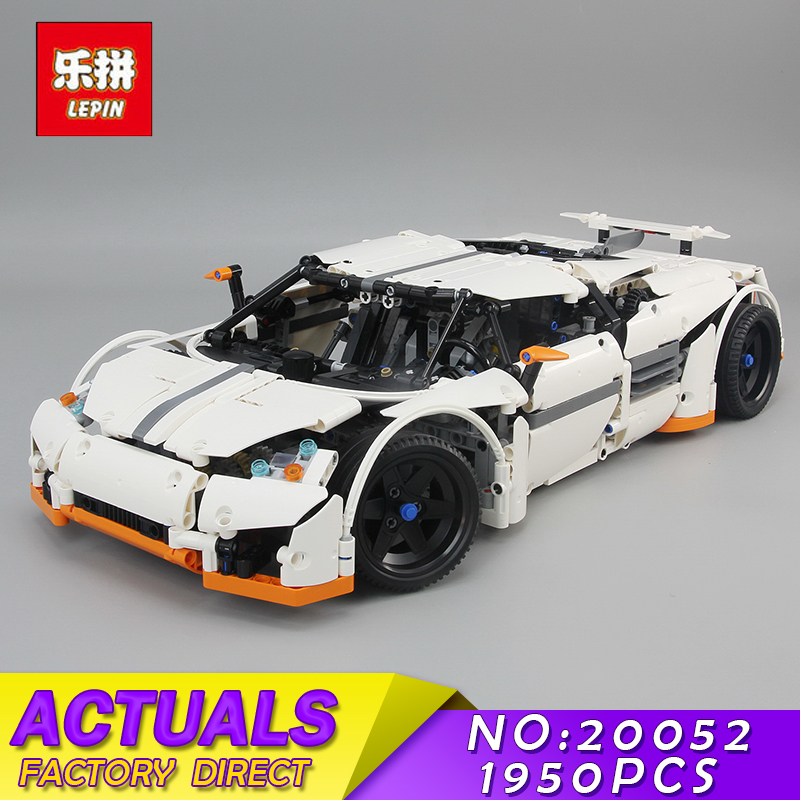 Lepin 20052 Technic Series The Predator Supercar Set MOC-2811 Assemblage DIY Building Blocks Bricks Childeren Toy Christmas Gift lepin 20052 the predator supercar set moc 2811 diy building blocks bricks children educational toy christmas gift lepin technic