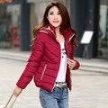 2015Hot горяч-продавать зимой 8 цвета M-3XL верхняя одежда Большой размер похудеть - хлопка-ватник женщина теплая куртка дешевые оптовая продажа