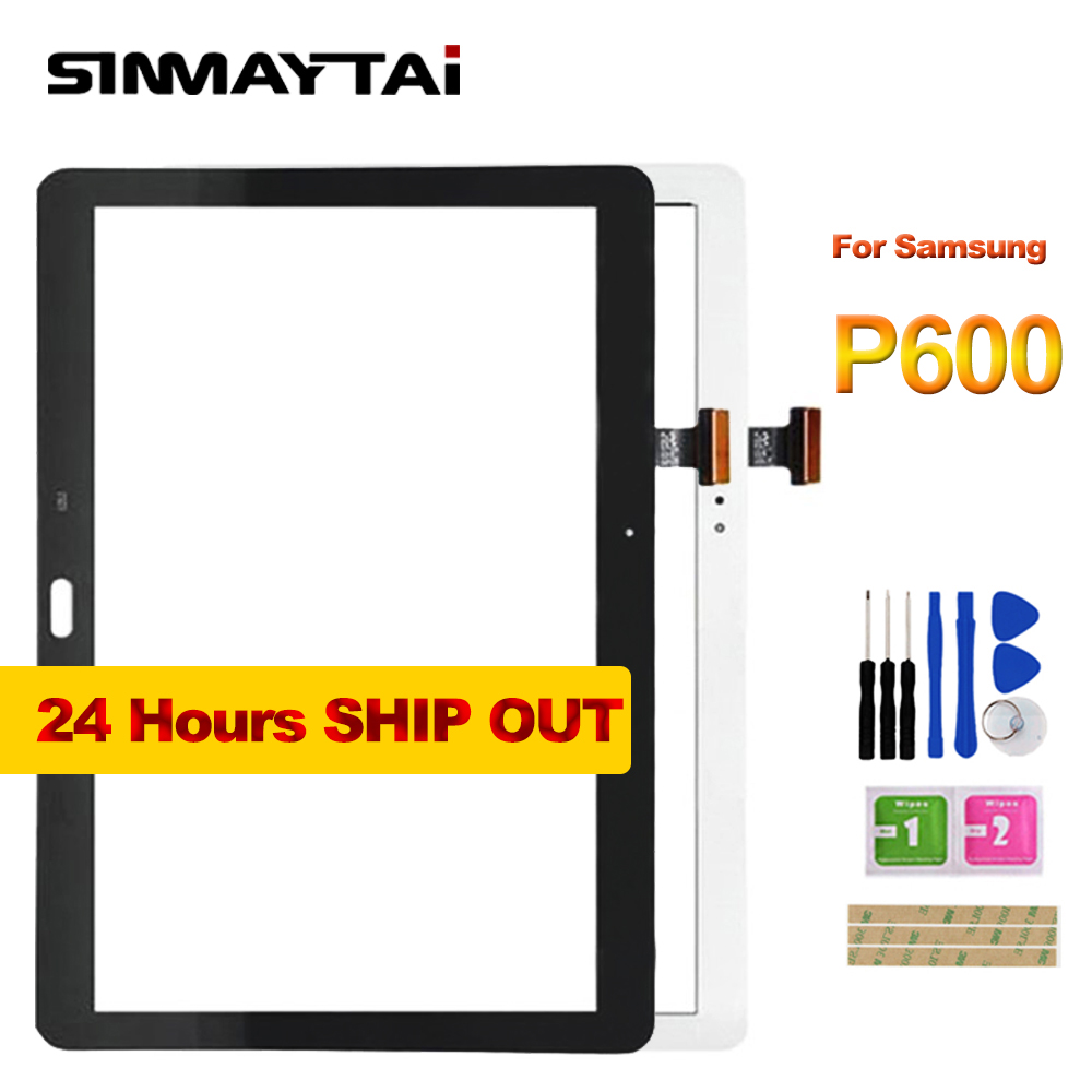 Black 10.1 inch For Samsung Note 10.1 2014 Edition P600 P601 P605 SM-P601 LCD Touch Screen Lens Glass Outer Front Panel + Tools new 10 1 lcd combo for samsung galaxy note 10 1 sm p600 p605 p600 lcd display touch screen digitizer glass assembly with frame