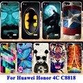 Macio tpu casos de telefone pc duro para o huawei honor 4c c8818 honor5 habitação capas para huawei g play mini honor4c voltar shell pele sacos