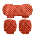 Winter Push Car Seat Cushion Solid Black Auto Seat Cover Fur Seat Protector Car Seat Accessories