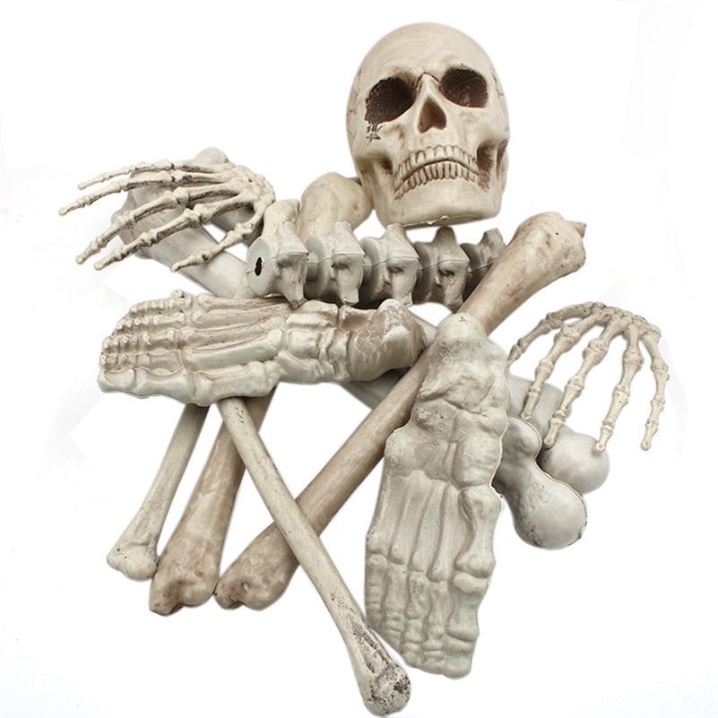 Gags & Practical Jokes Dynamic Halloween Haunters 12pc Bag Of Plastic Skeleton Skull Bones Set Prop Decoration Squish Decorations Toys For Terror Partys B2 Toys & Hobbies