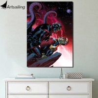 HD Printed 1 Piece Canvas Painting Guardians Of The Galaxy Movie Canvas Poster And Prints Robot