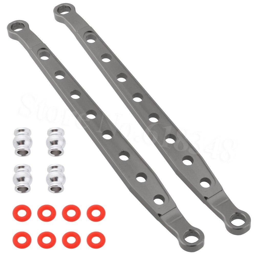 Aluminio delantero/trasero chasis inferior enlaces AX80083 piezas de actualización para 1/10 Buggy AXIAL AX90056 AX90048 AX90033 espectros RTR RC partes