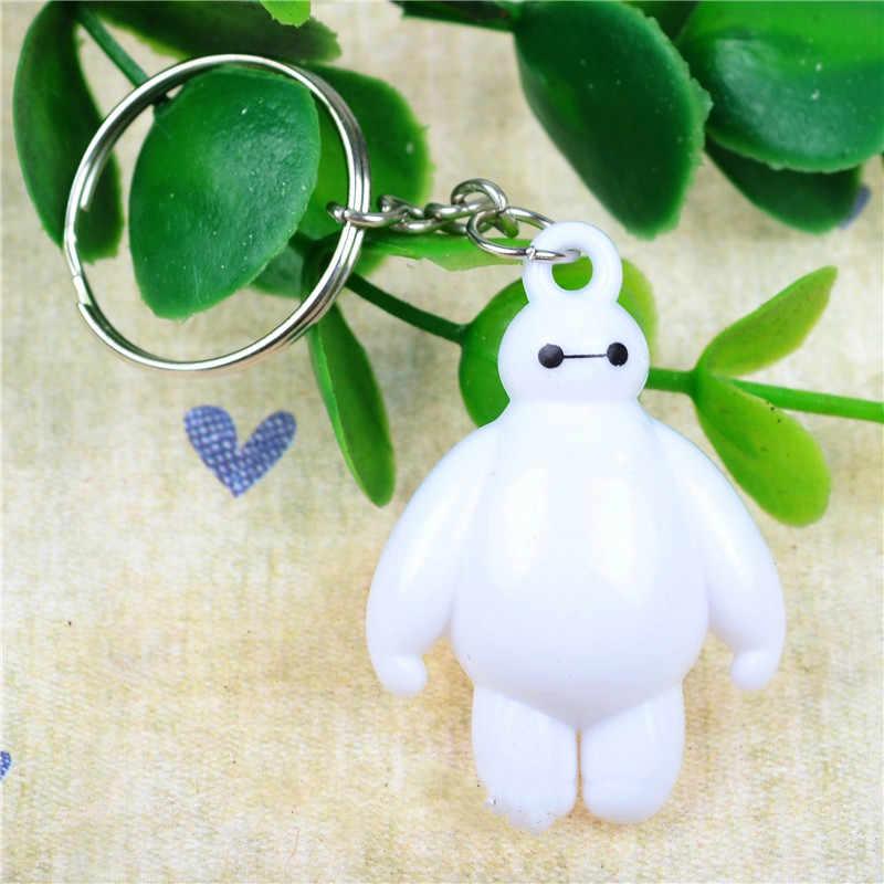1 sztuk Big Hero 6 brelok do kluczy zabawki tłuszczu balon lalka człowiek lalki Baymax zabawki figurka prezenty dla dzieci biały hot
