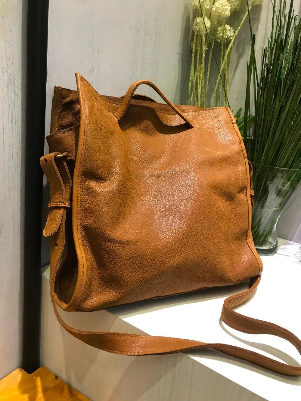 Vendange 2017 New fashion European and Amerian Style handmade Casual genuine leather handbag messenger bag business
