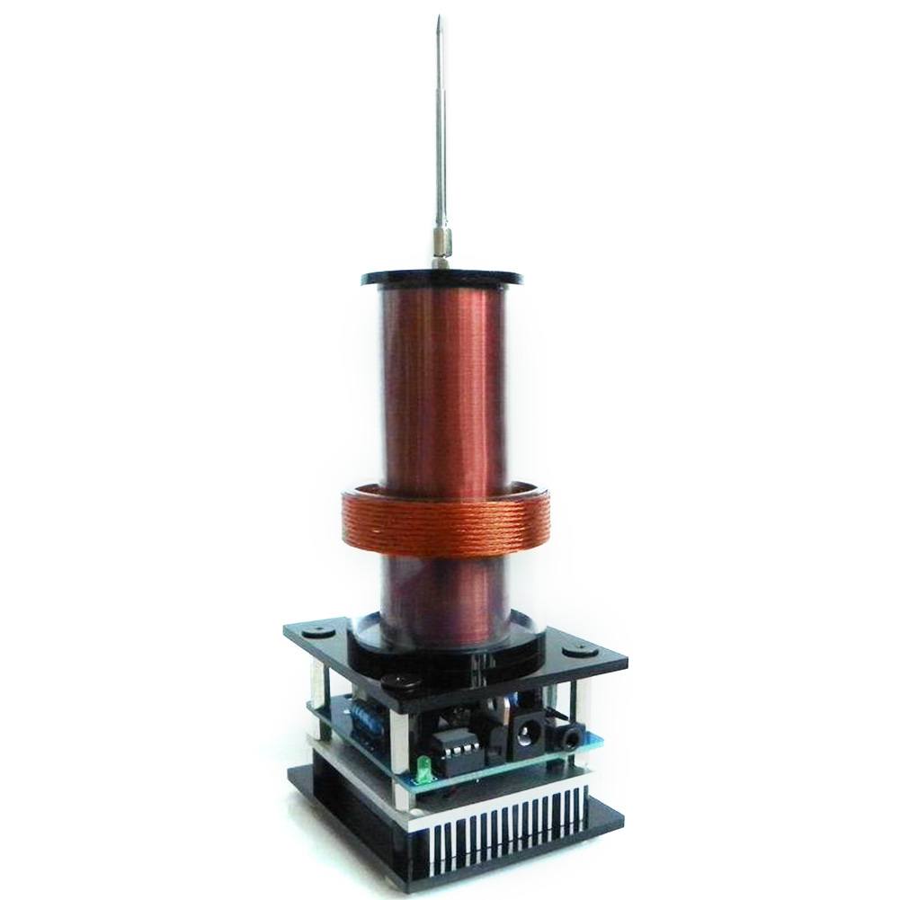 Avec adaptateur amplificateur corne son haut-parleur sans fil Transmission musique Mini Plasma stéréo pour Tesla bobine puissance électronique