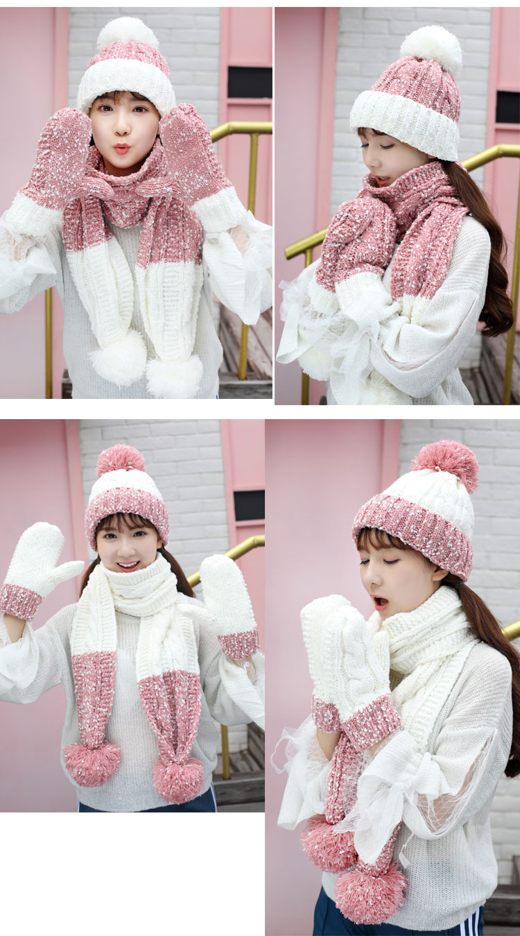 at and scarf set hat and scarf women\`s knitted hat and scarf for women Hat & Glove Sets hat and scarf set winter hat and scarf sets (4)