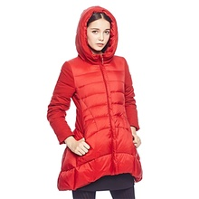 Women Down Coat Jacket Long Length Woman Down Parka With A Hat Fashion Winter Coat Girl Winter Collection YJW6Y67