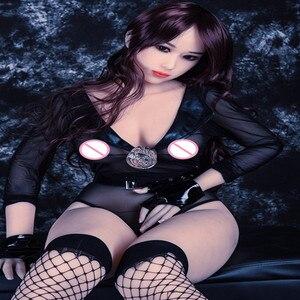 Image 1 - 160Cm #16 Flesh Kleur Skin Top Kwaliteit Mooie Sexy Vrouw Sex Robot Volledige Tpe Met Metalen Skelet Sex doll Mannen Sex Toy