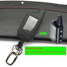 100% Genuine Leather Key Case for Starline B9 B9 / B91 / B6 / B61 / A91 / A61 / V7 C9 LCD Shape Of Hot Sale Remote Car Alarm