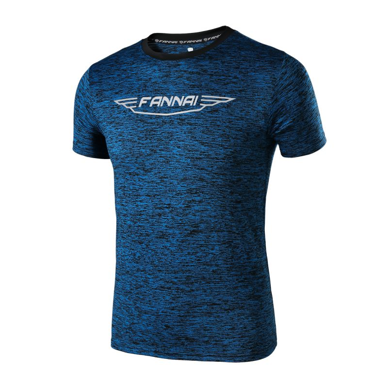 Men Outdoor Summer Autumn Running Sports Fitness Quick Dry Breathable Short Sleeve Workout T-shirt Tops New