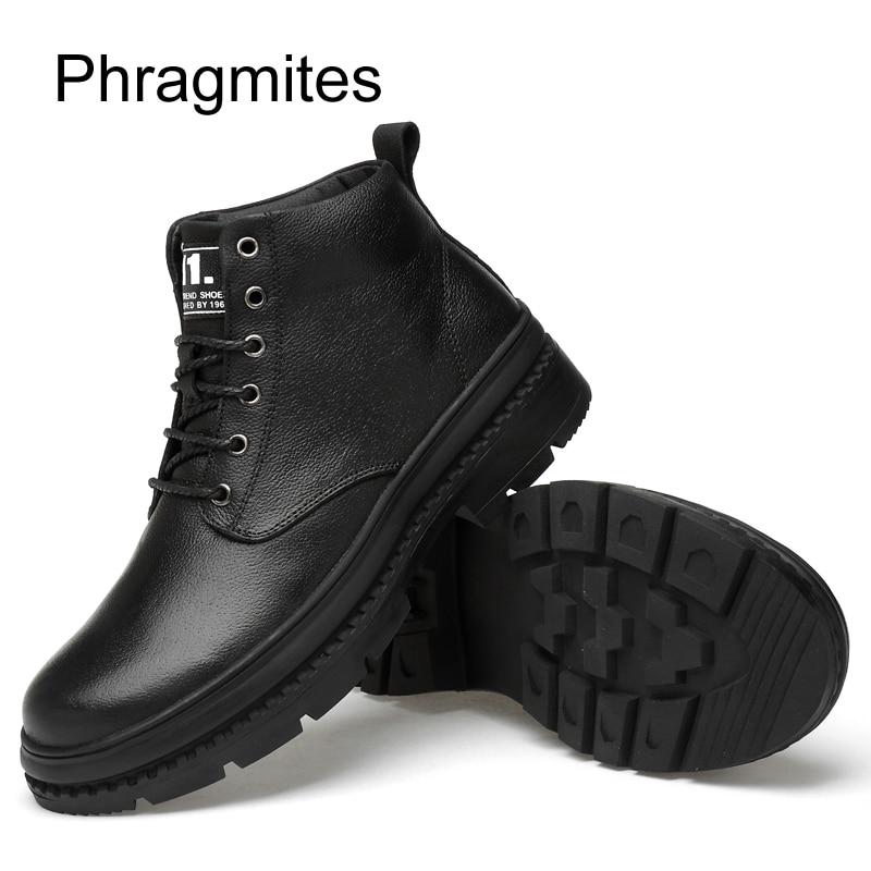 Et Pour Bottes Nouveau Automne Noir Courtes Hiver Phragmites Peluche With Tout Chaussures 2019 allumette Noires Cuir La Mode Hommes D'hiver black En Véritable Fur TK1uFJcl3